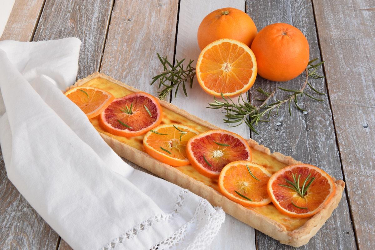 Crostata all'Arancia, Rosmarino e Labneh per PASSIAMOLE IN RIVISTA