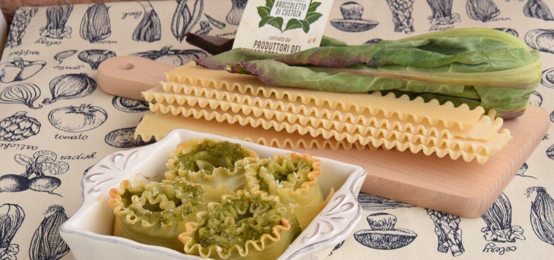 Rose di Lasagne Ricce con Broccoletto di Custoza e Pandilatte