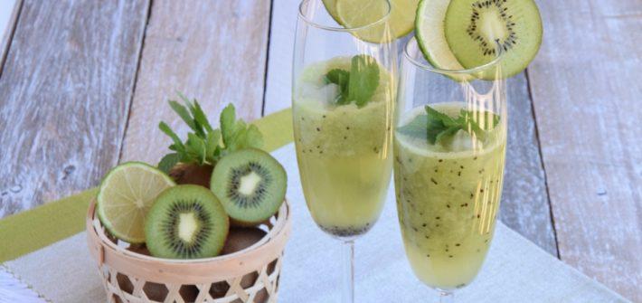 Kiwi Menta e Lime Mocktail - Spritz analcolico