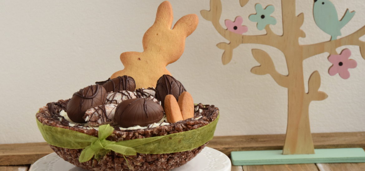 Chocolate Crackle Cheesecake Easter Bowl