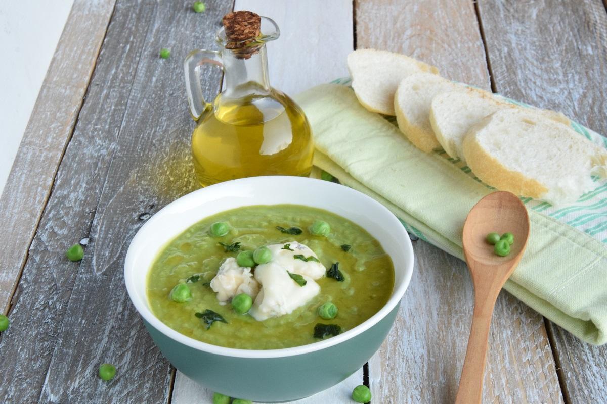 Crema di Piselli con Gorgonzola per PASSIAMOLE IN RIVISTA