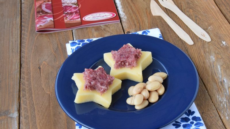 """Polenta al forno con Cotechino """"Al Berlinghetto"""" e Fagioli"""
