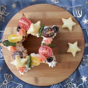 Cream Tart Salata Natalizia di Sfoglia con Crema al Salmone