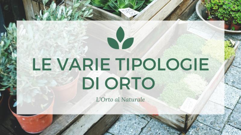 Le Varie Tipologie di Orto – L'ORTO AL NATURALE