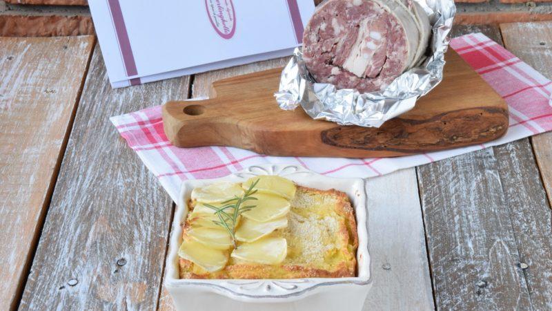"""Sformato di Patate con Osso dello Stomaco con Salame """"Al Berlinghetto"""" e Lenticchie"""