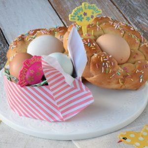 Origami di Pasqua – Cestino a forma di Coniglio. Bunny Basket Origami Easter