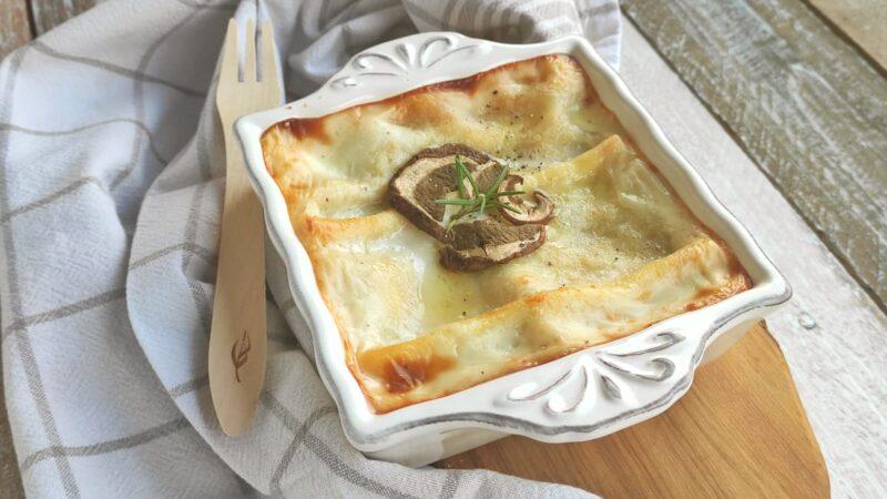 Lasagne ai Funghi e Raschera per L'Italia nel Piatto